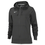 Nike Women's Full-Zip Poly Fleece Hoody (Dk Grey)