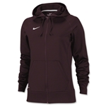 Nike Women's Full-Zip Poly Fleece Hoody (Maroon)