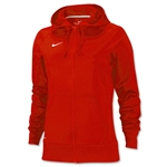 Nike Women's Full-Zip Poly Fleece Hoody (Red)