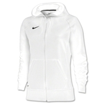 Nike Women's Full-Zip Poly Fleece Hoody (White)