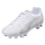 PUMA evoSPEED 5 FG Junior (White/White/PUMA Silver)