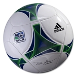 adidas MLS 2013 Glider Soccer Ball (White/Collegiate Royal)