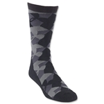 Under Armour GEO Heatgear Crew Sock (Blk/Grey)