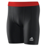 adidas TechFit Compression Dig Short (Blk/Red)