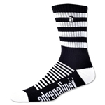 Adrenaline Super J-Train Lacrosse Socks (Blk/Wht)