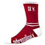 Adrenaline Data Lacrosse Socks (Red)