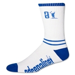 Adrenaline Data Lacrosse Socks (Wh/Ro)
