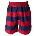 The Classic Stripe II Short (Red/Navy)