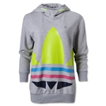adidas Originals Women's Big Trefoil Hoody (Gray)