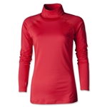 Nike Women's Pro Hyperwarm Mock II (Red)