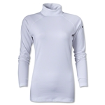 Nike Women's Pro Hyperwarm Mock II (White)
