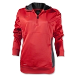 Nike Women's Sideline Fleece 1/4 Zip (Neon Pink)