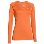 Under Armour Women's Tech Long Sleeve T-Shirt (Orange)