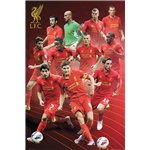Liverpool 2013 Players Poster