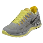 Nike Women's Lunarglide+ 4 Running Shoe (Strata Grey/Electric Yellow)