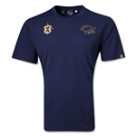Pele Sports Gold T-Shirt (Navy)