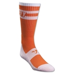 Warrior Stripe Crew Lacrosse Socks (Wh/Or)