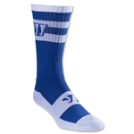 Warrior Stripe Crew Lacrosse Socks (Wh/Ro)
