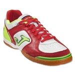 Joma Top Flex Indoor Shoe (White/Red/Sun Volt)