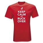 Keep Calm and Ruck Over Statement T-Shirt (Red)