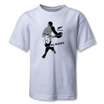 All Blacks 15's Rugby Kids T-Shirt (White)