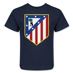 Atletico Madrid Crest Kids T-Shirt (Navy)