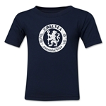 Chelsea Distressed Emblem Kids T-Shirt (Navy)