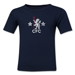 Chelsea Distressed Retro Kids T-Shirt (Navy)