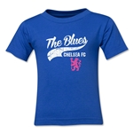 Chelsea The Blues Script Kids T-Shirt (Royal)