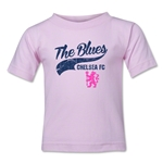 Chelsea The Blues Script Kids T-Shirt (Pink)