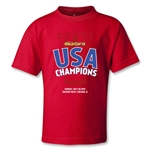 USA CONCACAF Gold Cup 2013 Champions Kids T-Shirt (Red)