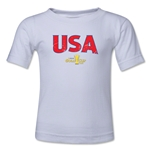 USA CONCACAF Gold Cup 2015 Kids Big Logo T-Shirt (White)