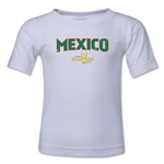 Mexico CONCACAF Gold Cup 2015 Kids Big Logo T-Shirt (White)