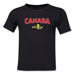 Canada CONCACAF Gold Cup 2015 Kids Big Logo T-Shirt (Black)