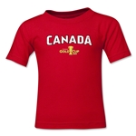 Canada CONCACAF Gold Cup 2015 Kids Big Logo T-Shirt (Red)