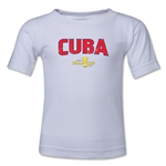 Cuba CONCACAF Gold Cup 2015 Kids Big Logo T-Shirt (White)