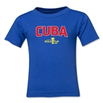 Cuba CONCACAF Gold Cup 2015 Kids Big Logo T-Shirt (Royal)