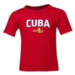 Cuba CONCACAF Gold Cup 2015 Kids Big Logo T-Shirt (Red)