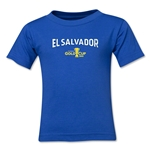 El Salvador CONCACAF Gold Cup 2015 Kids Big Logo T-Shirt (Royal)