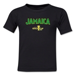 Jamaica CONCACAF Gold Cup 2015 Kids Big Logo T-Shirt (Black)