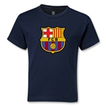Barcelona Core Kids T-Shirt (Navy)