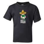 1970 FIFA World Cup Juanito Mascot Kids T-Shirt (Black)