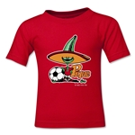 1986 FIFA World Cup Pique Mascot Kids T-Shirt (Red)