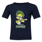 2010 FIFA World Cup Zakumi Mascot Kids T-Shirt (Navy)