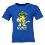 2010 FIFA World Cup Zakumi Mascot Kids T-Shirt (Royal)