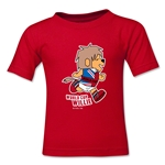 1966 FIFA World Cup Willie Mascot Logo Kids T-Shirt (Red)