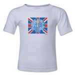 1966 FIFA World Cup England Emblem Kids T-Shirt (White)
