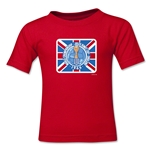 1966 FIFA World Cup England Emblem Kids T-Shirt (Red)