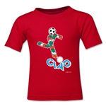 1990 FIFA World Cup Ciao Kids Mascot Logo T-Shirt (Red)