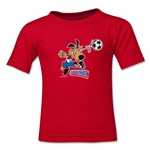 1994 FIFA World Cup Striker Kids Mascot Logo T-Shirt (Red)